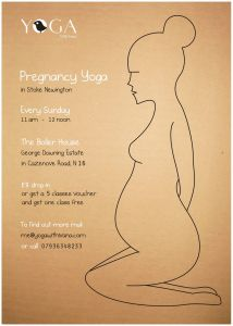 pregnancy yoga poster
